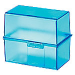 HAN 977-64 Kaartenbak Transparant, Blauw A7 300 Staal, Polystyreen 12,1 x 7,4 x 10,1 cm