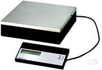 Pakketweger MAULparcel, 50kg, losse display en RVS plateau, zwart