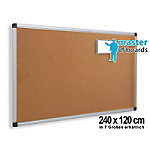 masterofboards Master of Boards Kurkbord, Aluminium Natural 240 x 120 cm