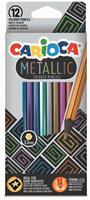 Carioca kleurpotlood Metallic, 12 stuks in een kartonnen etui