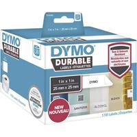 dymo Rol met etiketten 25 x 25 mm Polypropileen folie Wit 1700 stuk(s) Permanent 1933083 Universele etiketten, Adresetiketten