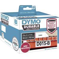 dymo Rol met etiketten 102 x 59 mm Polypropileen folie Wit 300 stuk(s) Permanent 1933088 Universele etiketten, Adresetiketten