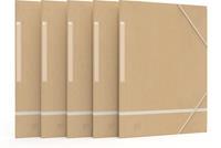 Oxford elastomap Touareg, ft A4, uit karton, naturel en wit