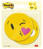 Post-it Notes Die-Cut EMOJI, ft 70 x 70 mm, 30 vel, pak van 2 blokken