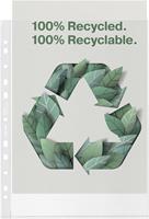 Esselte premium geperforeerde showtas, 100 % gerecycleerd, ft A4, 100 micron, doos van 50 stuks