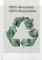 Esselte premium geperforeerde showtas, 100 % gerecycleerd, ft A4 maxi, 100 micron, doos van 50 stuks