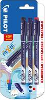 Pilot fineliner Frixion Basic, geassorteerde kleuren, set van 3 stuks