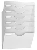 RecCeption by CEP wandfolderhouder met 5 compartimenten, grijs