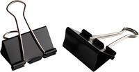 LPC foldbackclip, 19 mm, zwart, doos van 10 stuks