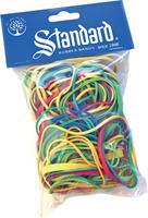 Standard elastieken 1,5/2 x 70/90 mm, geassorteerde kleuren, zakje van 50 g