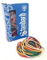 Standard elastieken 1,5/2 x 70/90 mm, geassorteerde kleuren, doos van 50 g