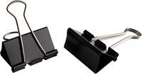 LPC foldbackclip, 25 mm, zwart, doos van 10 stuks