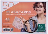 Exacompta gekleurde systeemkaarten, ft A6, gelijnd, pak van 50 stuks