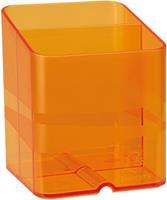 Exacompta pennenbakje PEN-CUBE, doorschijnend oranje