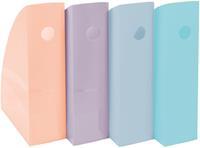 Exacompta tijdschriftenhouder MAG-CUBE, pak van 4 stuks in geassorteerde pastel kleuren
