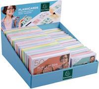 Exacompta gekleurde systeemkaarten, ft A6 en A7, gelijnd, display met 38 pakken van 50 stuks