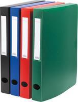 Pergamy elastobox, voor ft A4, uit PP van 700 micron, rug van 4 cm, in geassorteerde kleuren