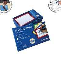 Correctbook Flashcards (systeemkaarten) actiepak, ft A5, uitwisbaar / herbruikbaar, gelijnd