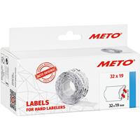 METO Prijslabels 30007366 Permanent Breedte etiket: 32 mm Hoogte etiket: 19 mm Wit 1 stuk(s)