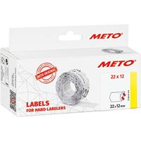 METO Prijslabels 9506154 Weer verwijderbaar Breedte etiket: 22 mm Hoogte etiket: 12 mm Wit 1 stuk(s)