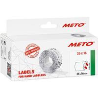 METO Prijslabels 9506166 Weer verwijderbaar Breedte etiket: 26 mm Hoogte etiket: 16 mm Wit 1 stuk(s)