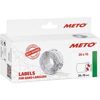 METO Prijslabels 9506169 Permanent Breedte etiket: 26 mm Hoogte etiket: 16 mm Rood 1 stuk(s)