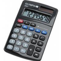 Olympia 2501 calculator Desktop Basisrekenmachine Zwart, Blauw, Grijs