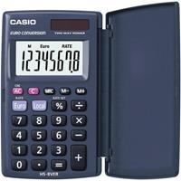 Casio HS-8VER Zakrekenmachine werkt op zonne-energie, werkt op batterijen Donkerblauw Aantal displayposities: 8