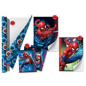Spider-man - Back To School Schoolpakket - Kaftpapier Voor Schoolboeken En Schriften