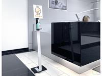 Desinfectie Dispenser Info Zuil Vloer