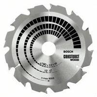 Cirkelzaagblad Construct Wood 184 x 16 x 2,6 mm, 12 Bosch 2608641200 Diameter:184 x 16 mm Dikte:2.6 mm