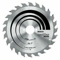 Cirkelzaagblad Optiline Wood, 160 x 20/16 x 1,8 mm, 12 Bosch 2608641170 Diameter:160 x 20/16 mm Dikte:1.8 mm