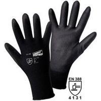 Leipold & Döhle worky 1151 Fijngebreide handschoen MICRO black 100% nylon met PU-coating Maat 9