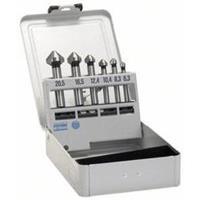 Kegelverzinkboor set 6-delig 6.3 mm, 8.3 mm, 10.4 mm, 12.4 mm, 16.5 mm, 20.5 mm HSS Bosch 2608597527 Cilinderschacht 1 set