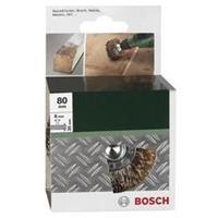 Houtstructuurborstel voor boormachines - geribbelde draad, vermessingd, 80 mm Bosch 2609256541