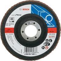 Waaierslijpschijven Bosch 2608607349 Diameter 115 mm Binnendiameter 22.23 mm Korreling 40