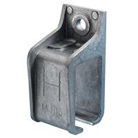 Henderson Raildrager,aluminium voor wandmontage, open model, 1A/305
