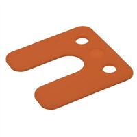 GB Drukplaatjes / Stelplaatjes Oranje Met Sleuf 70X70X2 - 48 stuks