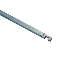 Nemef Stang voor pompespagnolet verzinkt 9mm gegalvaniseerd type 1 2250mm