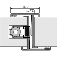 Nemef Deurnaald P-F 19-1 40/2450mm rechts