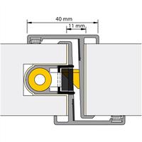 Nemef Deurnaald P-F 19-1 54/2450mm rechts