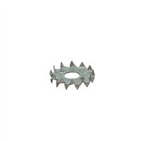GB Kramplaat Diameter gat: 21mm Sendzimir verzinkt - 10 Stuks