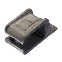 Henderson Raildrager, eindstuk links, aluminium voor wandmontage, 1lsla/305