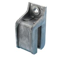 Henderson Raildrager, eindstuk rechts, aluminium voor wandmontage, RSLA/305