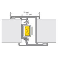 Alprokon Deurnaaldprofiel binnen/binnen slotsparing Nemef 1200 type pr.-2000 40mm N.1200 2850mm