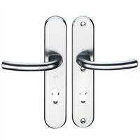 Hoppe Kruk/kruk schild, aluminium 1710/3235/3234, PC 92, F1, DD=54mm