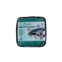TOPPROTECT aanhangwagennet met hoeklussen groen 2,5x4 m 14002197