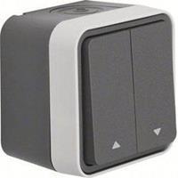 Berker 30753525 - 1-pole switch for roller shutter grey 30753525