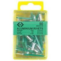 C.K. Aluminium klinknagels x 50 3,8 x 6 mm 1 stuks