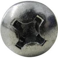 toolcraft 888708 Cilinderkop schroeven 4.8 mm 9.5 mm Kruiskop Phillips DIN 7981 ISO 7049 Staal Verzinkt 1 stuk(s)
